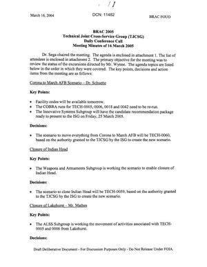 Primary view of object titled 'Technical JCSG 119T Minutes 16 Mar 05.pdf'.