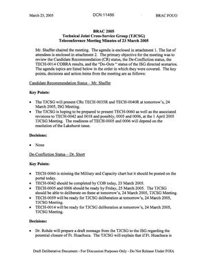 Primary view of object titled 'Technical JCSG 124 Minutes 23 Mar 05.pdf'.