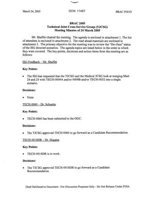Primary view of object titled 'Technical JCSG 126 Minutes 24 Mar 05.pdf'.
