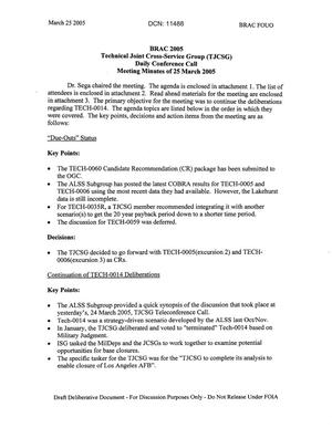 Primary view of object titled 'Technical JCSG 128 Minutes 25 Mar 05.pdf'.
