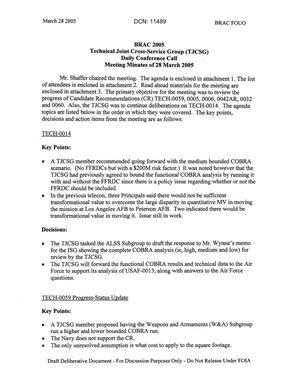 Primary view of object titled 'Technical JCSG 129T Minutes 28 Mar 05.pdf'.