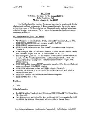 Primary view of object titled 'Technical JCSG 134T Minutes 04 April 05.pdf'.