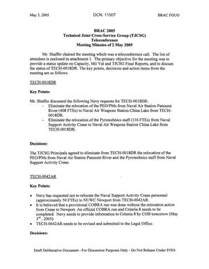 Primary view of object titled 'Technical JCSG 149T Minutes  02 May 05.pdf'.