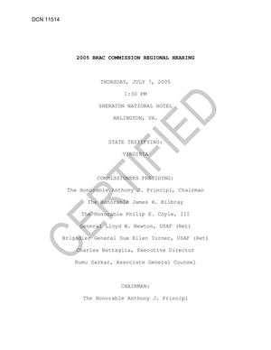 Primary view of object titled 'Certified Arlington 7 Jul Transcript'.