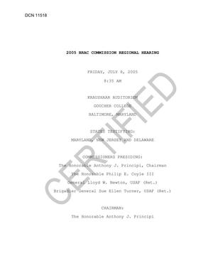 Primary view of object titled 'Certified Baltimore 8 Jul Transcript'.