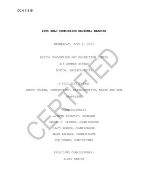 Primary view of object titled 'Certified Boston Transcript 070605'.