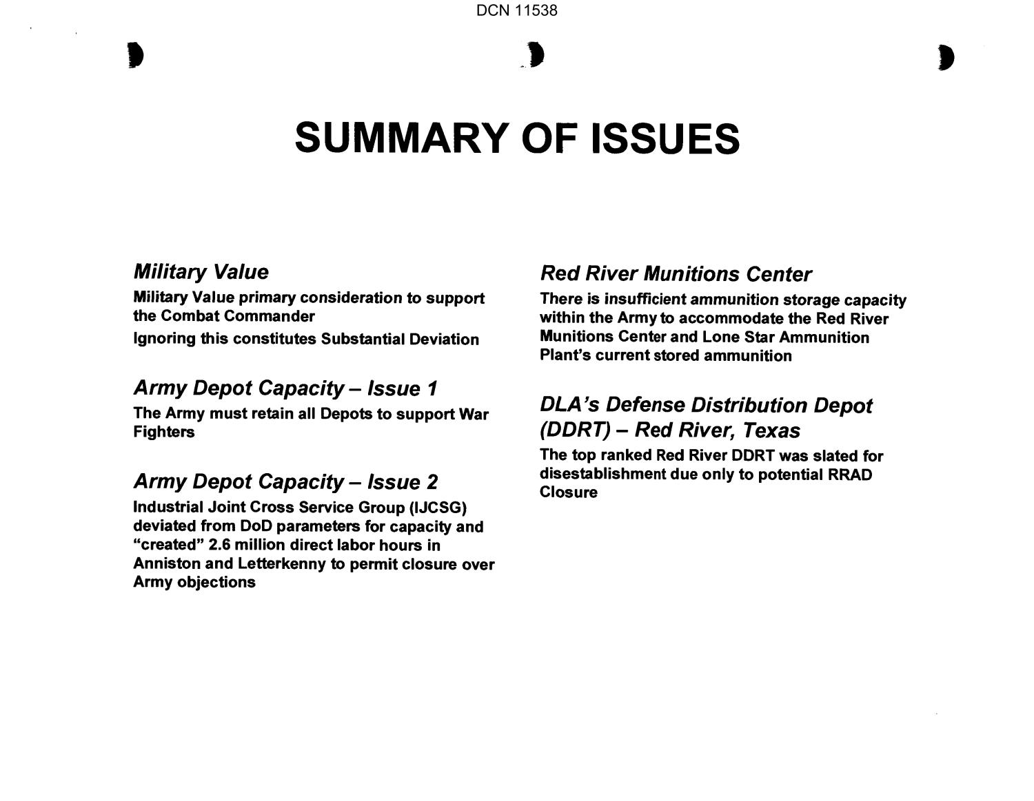A 20 - Red River Army Depot, TX, Community Presentation                                                                                                      [Sequence #]: 1 of 23