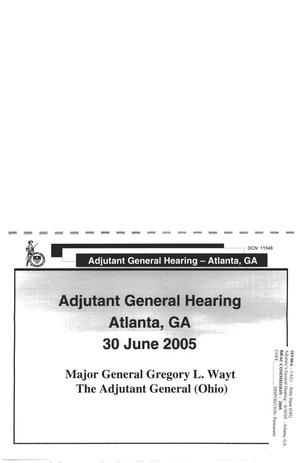 Primary view of object titled 'TAG1 - Adjutant's General Hearing Input (OH)'.