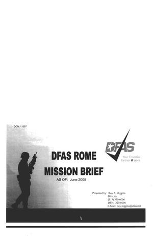Primary view of object titled 'BRAC Analysis - DFAS Rome'.