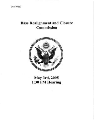 Primary view of object titled 'Hearing Book - May 3, 2005 Preliminary Hearing - Washington, DC'.