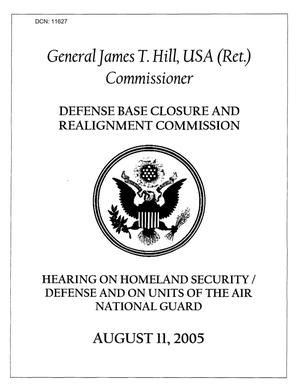 Primary view of object titled 'Informational Hearing on Homeland Security/ Air National Guard'.