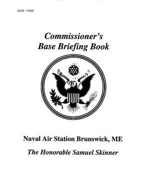 Primary view of object titled 'Base Visit Book - NAS Brunswick, ME (2nd Visit)'.