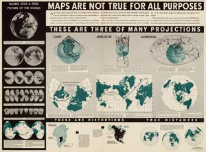Maps are not true for all purposes.