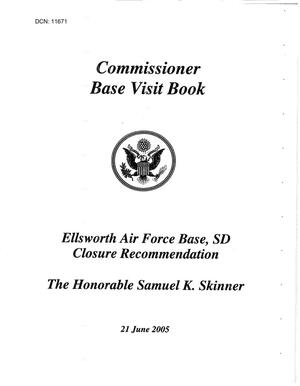 Primary view of object titled 'Base Visit Book - Ellsworth Air Force Base, SD'.