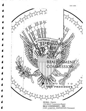 Primary view of object titled '1995 BRAC Commission Report'.