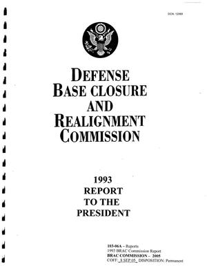 Primary view of object titled '1993 BRAC Commission Report'.