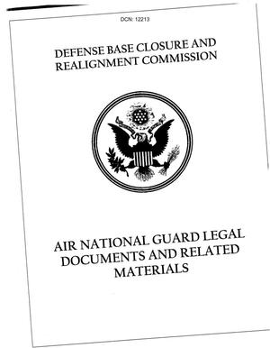 Primary view of object titled 'General Counsel - Air National Guard Legal Documents and Related Materials (Part 1 of 2)'.