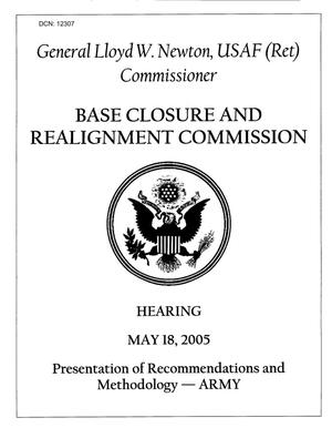 Primary view of object titled 'Commissioner's Notes - Commissioner Newton, Hearing May 18, 2005'.
