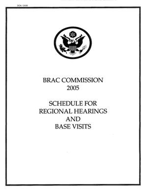 Primary view of object titled 'BRAC Commission - Chairman's Notes'.