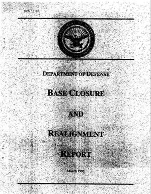 Primary view of object titled '1995 Army Team Lead Desk Material - DoD Base Realignment and Closure Report, March 1995'.
