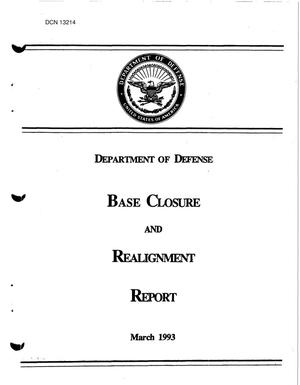 Primary view of object titled '1995 Army Team Lead Desk Material - Dod Base Realignment and Closure Report, March 1993'.