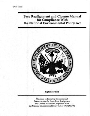 Primary view of object titled '1995 Army Team Lead Desk Material - BRAC Manual - Compliance With National Environmental Policy Act'.