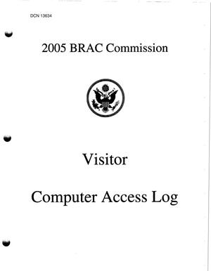 Primary view of object titled 'BRAC Commission Material – BRAC Crystal City Office Library Patron Log'.