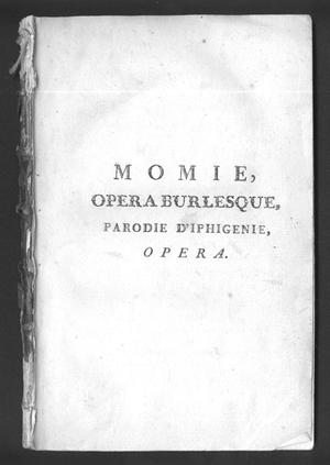 Primary view of object titled 'Momie'.