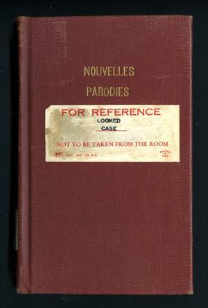 Primary view of Nouvelles parodies bachiques, mélées de vaudevilles ou ronde de table