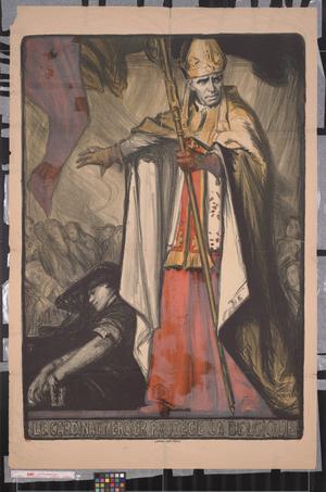 Primary view of Le Cardinal Mercier protège la Belgique.