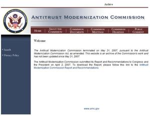 Primary view of object titled 'Antitrust Modernization Commission'.