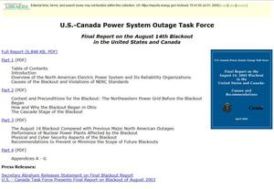 U.S.-Canada Power System Outage Task Force
