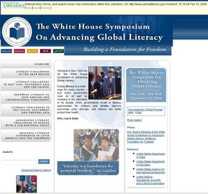 Primary view of object titled 'The White House Symposium on Advancing Global Literacy'.