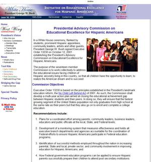 Primary view of object titled 'White House Initiative on Educational Excellence for Hispanic Americans'.