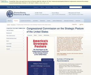 Primary view of object titled 'Congressional Commission on the Strategic Posture of the United States'.