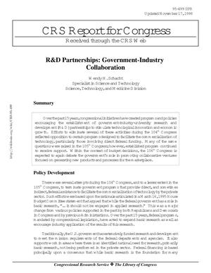 R&D Partnerships: Government-Industry Collaboration