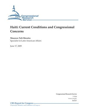 Haiti: Current Conditions and Congressional Concerns