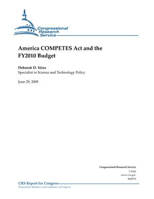 America COMPETES Act and the FY2010 Budget