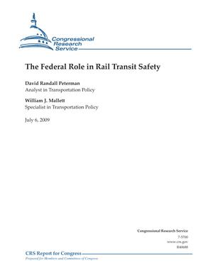 The Federal Role in Rail Transit Safety