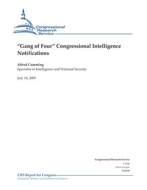 """Gang of Four"" Congressional Intelligence Notifications"
