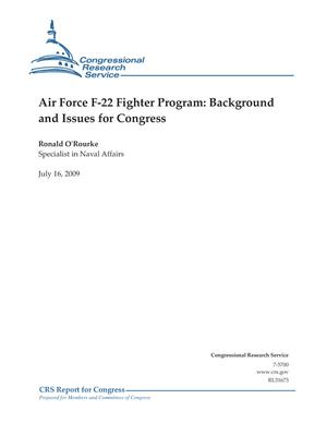 Air Force F-22 Fighter Program: Background and Issues for Congress