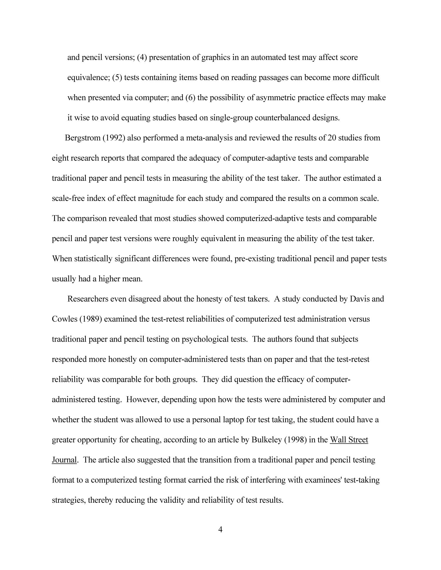 traditional research paper format