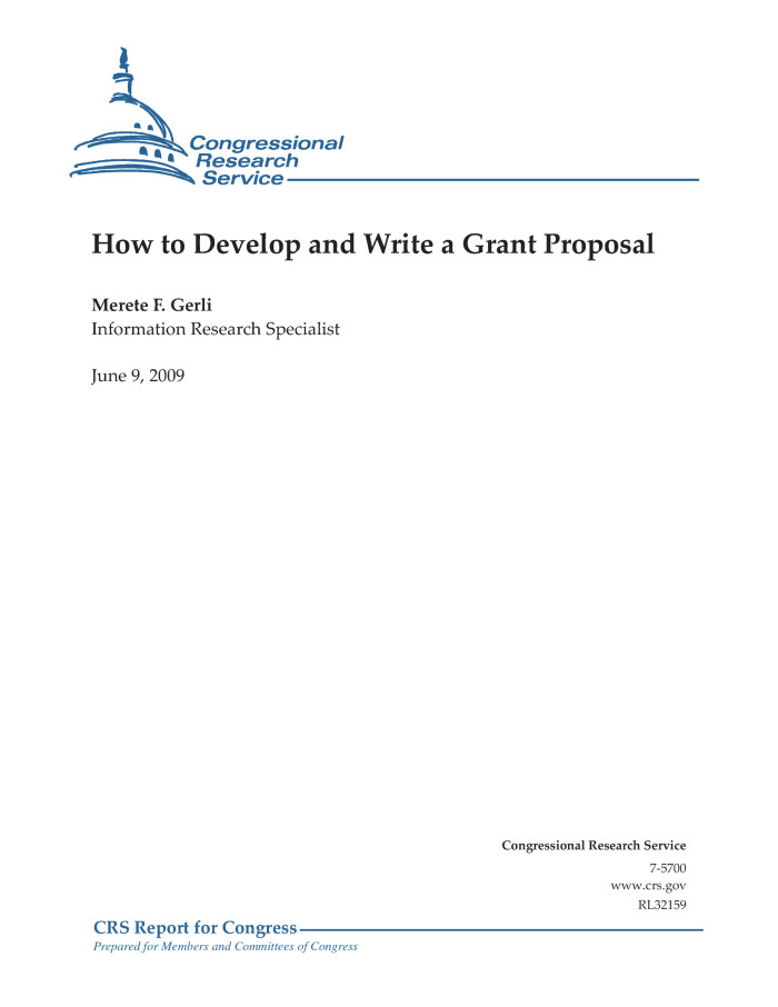 How To Develop And Write A Grant Proposal Digital Library