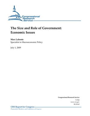 The Size and Role of Government: Economic Issues