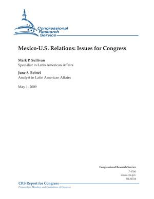 Mexico-U.S. Relations: Issues for Congress