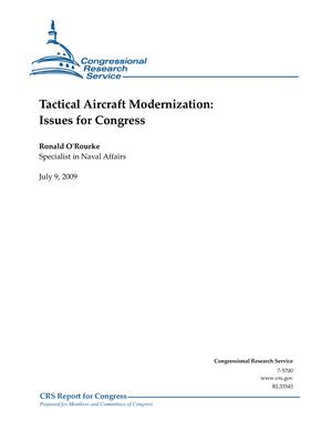Tactical Aircraft Modernization: Issues for Congress