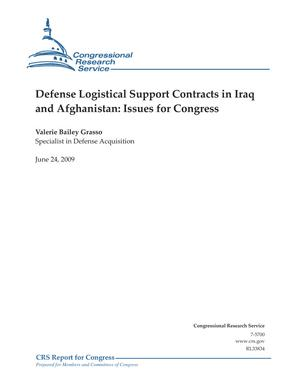Defense Logistical Support Contracts in Iraq and Afghanistan: Issues for Congress