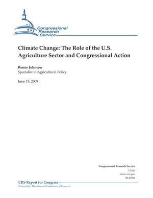 Climate Change: The Role of the U.S. Agriculture Sector and Congressional Action