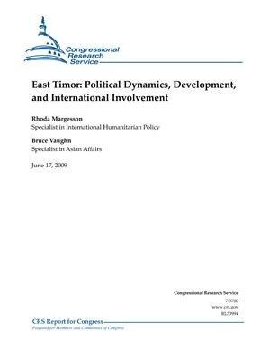East Timor: Political Dynamics, Development, and International Involvement