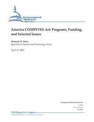America COMPETES Act: Programs, Funding, and Selected Issues